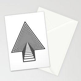 The stairs to the top / Arrow spectrum Stationery Cards