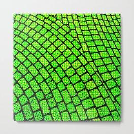 Green Brick Road Metal Print