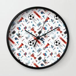 Soccer Pattern | Goal Score Stadium Champion Wall Clock