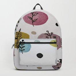 Polka leaves Pattern Backpack