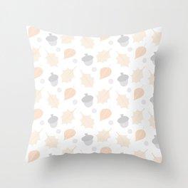 Autumn Acorn Pattern Throw Pillow