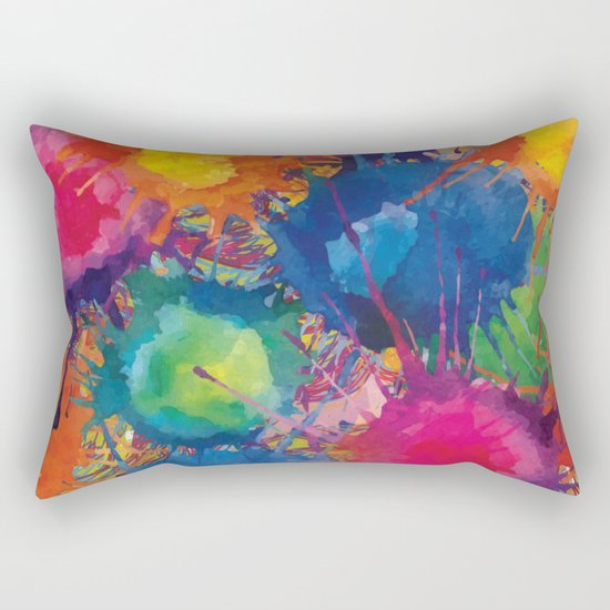 Color explosion Rectangular Pillow