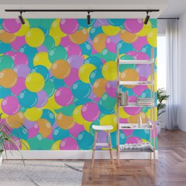 Pastel Rainbow Round Candy – Ball Pit Wall Mural