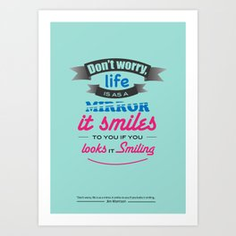 Quote Poster 4 Art Print