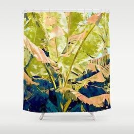 Blush Banana Tree Shower Curtain