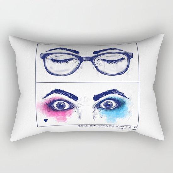 Harley Quinn. Awake for evil. Rectangular Pillow