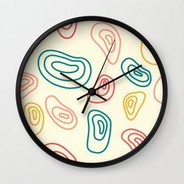 Circular Lines Abstract Shapes Pattern Wall Clock