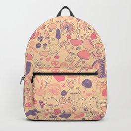 Vintage Mushroom Pattern Backpack