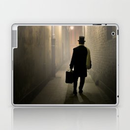 Victorian man with top hat Laptop & iPad Skin