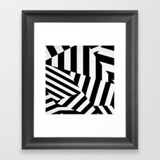 RADAR/ASDIC Black and White Graphic Dazzle Camouflage Framed Art Print