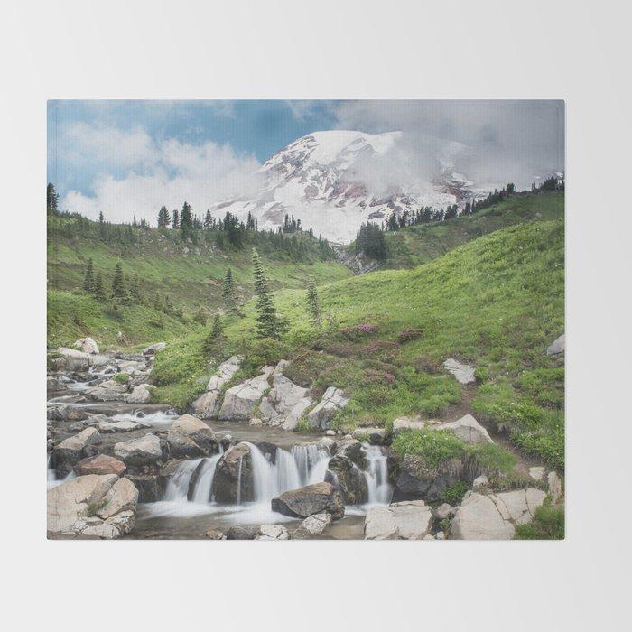 Mt. Rainier, Edith Creek Throw Blanket