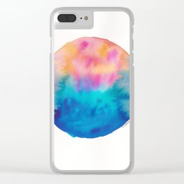 12 | 190831 | Watercolor Circle Clear iPhone Case