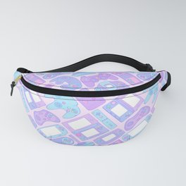 Video Game Controllers in Pastel Colors Fanny Pack