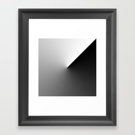 25 black and white abstract Framed Art Print