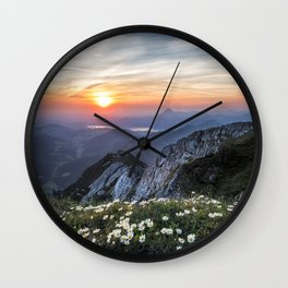 Daisy Field Wall Clock