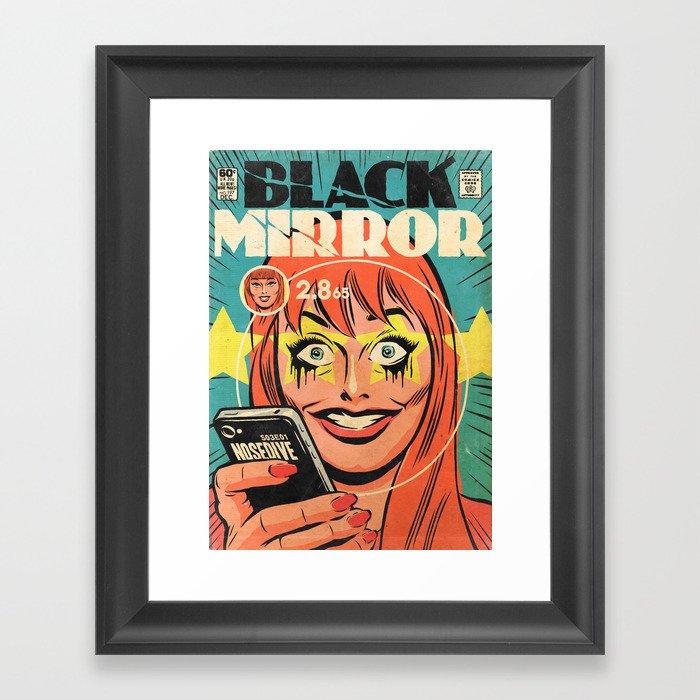Black Mirror Nosedive Framed Art Print