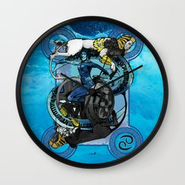 """Ars Tarot of the 12 Zodiac: """"Cancer - The Chariot"""" Wall Clock"""