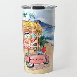 Shave Ice Santa Travel Mug