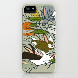 Bunnies in My Tree and more! iPhone Case