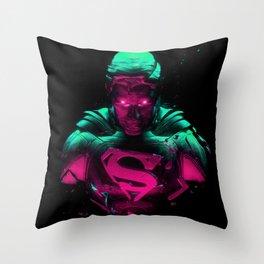 Man Of Steel 4 Throw Pillow