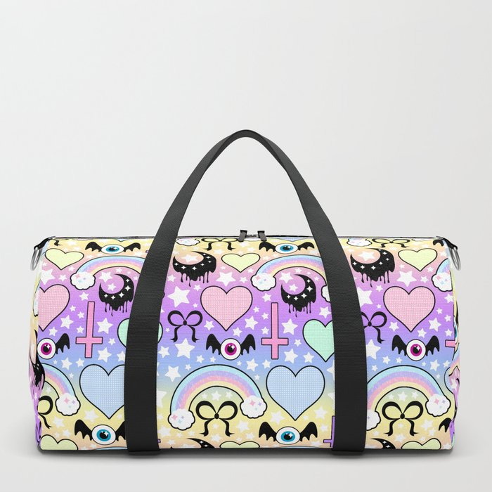 Pastel Goth Collage Duffle Bag