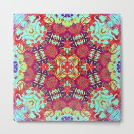 Kaleidoscope Buddha Enlightenment Print Metal Print