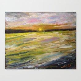 Sunset at Good Harbor Beach Canvas Print