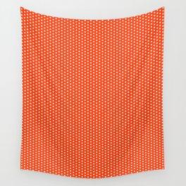 Florida fan university gators orange and blue college sports football dots pattern Wall Tapestry