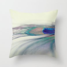 Peacock Drop Throw Pillow