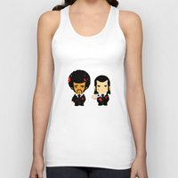 pulp Tank Tops featuring pulp fiction by sEndro