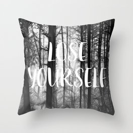 Forest - Lose Yourself Throw Pillow