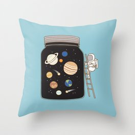 confined space Throw Pillow