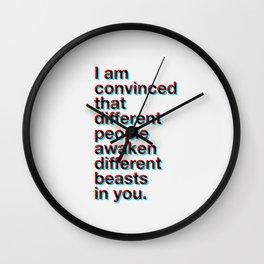 I Am Convinced Wall Clock