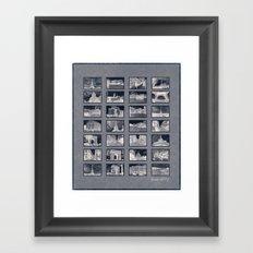 France Collage Negatives Framed Art Print