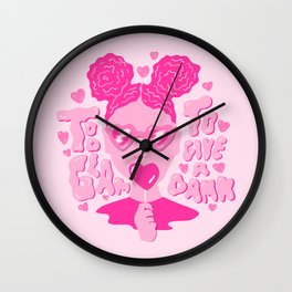 Too Glam to Give a Damn Wall Clock