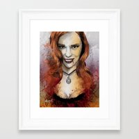 true blood Framed Art Prints featuring Oh My Jessica - True Blood by Fresh Doodle - JP Valderrama
