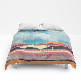 Pink Desert Glow Comforters