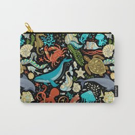 Underwater animals and plants pattern Carry-All Pouch
