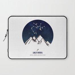 Astrology Sagittarius Zodiac Horoscope Constellation Star Sign Watercolor Poster Wall Art Laptop Sleeve