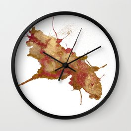 Smushed Butterfly Wall Clock