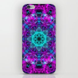 Neon Space Mandala iPhone Skin