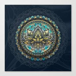 Lotus Mandala - Color Version Canvas Print