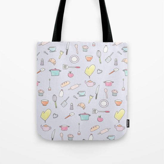 Cooking Pattern Tote Bag