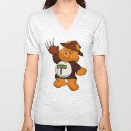 Freddy Scare Bear Unisex V-Neck