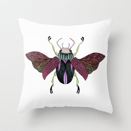 Beetle #4 Color Throw Pillow