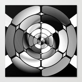 Chromed black and white Canvas Print