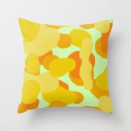 Warm and Cool Tone Terrazzo Throw Pillow