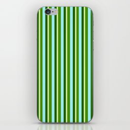 zakiaz green stripe iPhone Skin