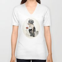 romantic V-neck T-shirts featuring Romantic by ValD