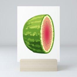 Water Melon Cut In Half Mini Art Print